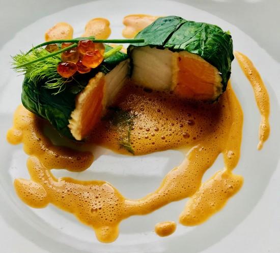 Salmon & Dory Supreme with Cavior veloute