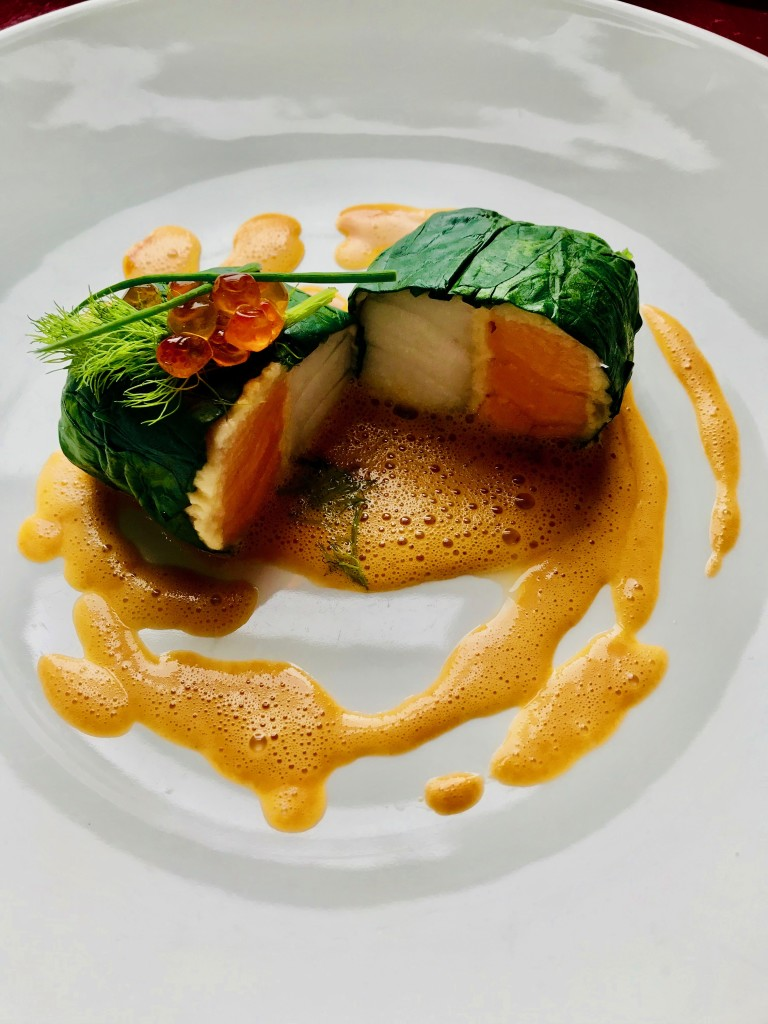 Salmon & Dory Supreme with Cavior veloute