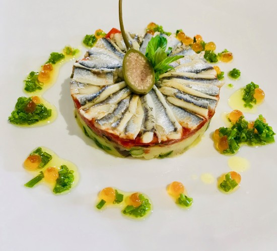 Tarte de anchovis
